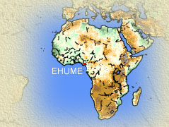 Africa Map with Ehume Location